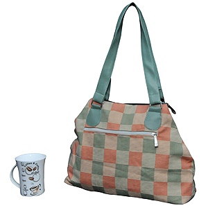 Printed Cotton Calico Canvas Bag