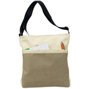 The earthy-look sling shoulder bag with adjustable single strap by Green Petal Ventures.
