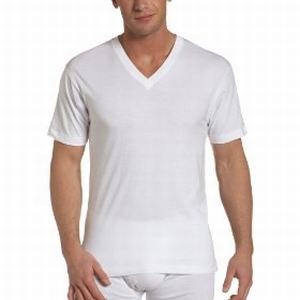 V Neck Single Jersey Organic Cotton T-Shirt