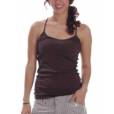 This organic bamboo fabric tank top is used while performing yoga